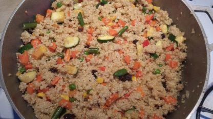 Quinoa com vegetais